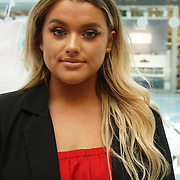 Rachel Leary is a celebrity youtube make up junkie from the UK, personal greeting customer to promote imPRESS nail at Superdrug in Surrey Quays, Shopping Centre on 11th August 2017, London, UK.