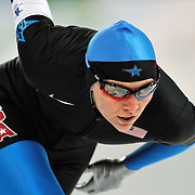 February 17, 2009 - 2010 Winter Olympics - Speedskating - Heather Richardson competes in the 1000m distance held at the Richmond Olympic Oval.