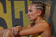 Elizaveta Parnova (Australia), crying, cries after failing to qualify, Women's Pole Vault Qualification, during the 2019 IAAF World Athletics Championships at Khalifa International Stadium, Doha, Qatar on 27 September 2019.
