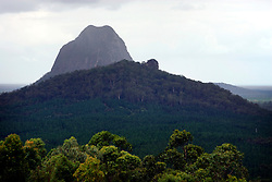 AUSTRALIA QUEENSLAND GLASS HOUSE MOUNTAINS 17FEB08 - Mount Beerwah at the Glass House Mountains in Queensland, Australia. The mountains were named by Lieutenant James Cook in 1770 and it is believed that he thought the peaks resembled the glass furnaces of his hometown in Yorkshire, England...jre/Photo by Jiri Rezac..© Jiri Rezac 2008..Contact: +44 (0) 7050 110 417.Mobile:  +44 (0) 7801 337 683.Office:  +44 (0) 20 8968 9635..Email:   jiri@jirirezac.com.Web:    www.jirirezac.com..© All images Jiri Rezac 2007 - All rights reserved.
