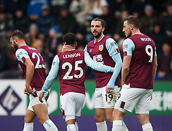 Jay Rodriguez of Burnley (C) celebrates scoring his sides fourth goal - Mandatory by-line: Jack Phillips/JMP - 04/01/2020 - FOOTBALL - Turf Moor - Burnley, England - Burnley v Peterborough United - English FA Cup