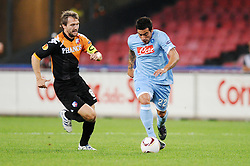 16.09.2010, Stadio San Paolo, Neapel, ITA, UEFA EL, Napoli vs Ultrecht, im Bild Lavezzi ( Napoli ) con Silberbauer ( Ultrecht ).EXPA Pictures © 2010, PhotoCredit: EXPA/ InsideFoto +++++ ATTENTION - FOR AUSTRIA AND SLOVENIA CLIENT ONLY +++++.. / SPORTIDA PHOTO AGENCY