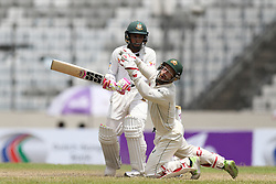 August 29, 2017 - Mirpur, Dhaka, Bangladesh - Australia's Mathew Wade miss to keep the the ball in his gloves during day three of the First Test match between Bangladesh and Australia at Shere Bangla National Stadium on August 29, 2017 in Mirpur, Bangladesh. (Credit Image: © Ahmed Salahuddin/NurPhoto via ZUMA Press)