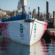 This edition of the Volvo Ocean Race is the 12th running of the 40-year-old event, which started in 1973 as the Whitbread Round the World Race.<br /> <br /> The race started on October 4, 2014, day of the first In-Port Race in Alicante, Spain, and will finish with one last In-Port Race on June 27, 2015 in Gothenburg, the Swedish home of Volvo.<br /> <br /> The 38,739-nautical mile route will include stopovers in Cape Town (South Africa), Abu Dhabi (UAE), Sanya (China), Auckland (New Zealand), Itaja&iacute; (Brazil), Newport (Rhode Island, US), Lisbon (Portugal) and Lorient (France). A 24-hour pit-stop in The Hague is scheduled between France and Sweden.<br /> <br /> This and the next edition will be contested in a new high-performance boat, the Volvo Ocean 65, designed by Farr Yacht Design in the United States and built by a consortium of boatyards in the United Kingdom, France, Italy and Switzerland.<br /> <br /> Seven teams have been announced for the 12th edition. The all-female Team SCA are the first all-women's team to compete in the race since 2001-02. Abu Dhabi Ocean Racing are once again skippered by Britain's twice Olympic silver medallist Ian Walker. Dongfeng Race Team come from China and are backed by Dongfeng Commercial Vehicle. Team Brunel from the Netherlands are skippered by race veteran Bouwe Bekking. Team Alvimedica with a double flag (Turkey/USA) will be headed by Rhode Island's Charlie Enright. A Spanish team was announced in June and is backed by insurance giant MAPFRE. Denmark's Team Vestas was the final boat to be announced in August. Chris Nicholson will be skipper.