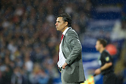 CARDIFF, WALES - Friday, October 12, 2012: Wales' manager Chris Coleman during the Brazil 2014 FIFA World Cup Qualifying Group A match against Scotland at the Cardiff City Stadium. (Pic by David Rawcliffe/Propaganda)