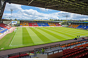 General view inside McDiarmid Park, Perth, Scotland before the Ladbrokes Scottish Premiership match between St Johnstone and Motherwell on 11 May 2019.