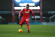 Swindon Town midfielder Louis Thompson on the ball during the Sky Bet League 1 match between Chesterfield and Swindon Town at the Proact stadium, Chesterfield, England on 28 November 2015. Photo by Aaron Lupton.