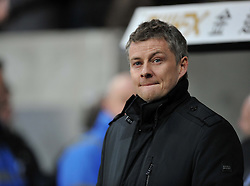 Cardiff City Manager, Ole Gunnar Solskjær - Photo mandatory by-line: Alex James/JMP - Tel: Mobile: 07966 386802 08/02/2014 - SPORT - FOOTBALL - Swansea - Liberty Stadium - Swansea City v Cardiff City - Barclays Premier League