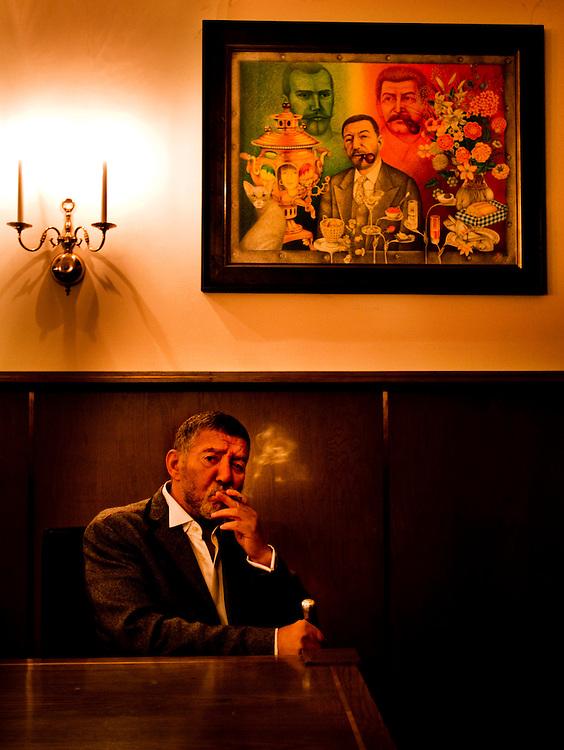 Roman Kaplan Manger of the russian restaurant Russian Samovar in New York City.Photographer: Chris Maluszynski /MOMENT
