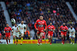 Bryan Habana of Toulon chases after the ball - Photo mandatory by-line: Patrick Khachfe/JMP - Mobile: 07966 386802 02/05/2015 - SPORT - RUGBY UNION - London - Twickenham Stadium - ASM Clermont Auvergne v RC Toulon - European Rugby Champions Cup Final