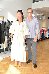 STEPHANIE ALAMEIDA and ANDRE MEYERS at the launch of the new Salt store at 91 Walton Street, London on 7th July 2016.