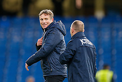 Bradford City Manager Phil Parkinson smiles after Bradford City pull of a remarkable comeback from 2-0 down to win the match 2-4 and progress to the fifth round of the FA Cup - Photo mandatory by-line: Rogan Thomson/JMP - 07966 386802 - 24/01/2015 - SPORT - FOOTBALL - London, England - Stamford Bridge - Chelsea v Bradford City - FA Cup Fourth Round Proper.