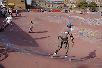 Youth at urban Skate park in Brixton South London.