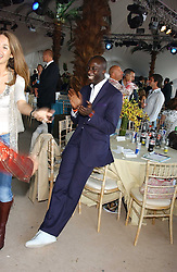 Fashion designer OZWALD BOATENG at the 2005 Cartier International Polo between England & Australia held at Guards Polo Club, Smith's Lawn, Windsor Great Park, Berkshire on 24th July 2005.<br />