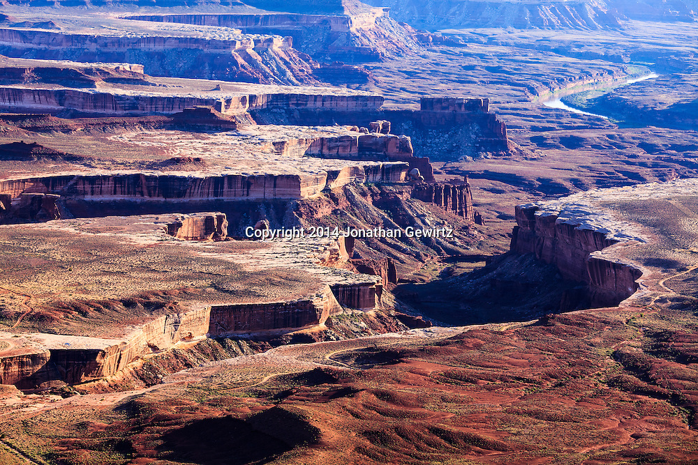 Desert landscape around the Green River in Canyonlands National Park, Utah. WATERMARKS WILL NOT APPEAR ON PRINTS OR LICENSED IMAGES.
