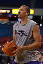 Jan 8, 2012; Sacramento, CA, USA; Sacramento Kings shooting guard Francisco Garcia (32) warms up before the game against the Orlando Magic at Power Balance Pavilion. Orlando defeated Sacramento 104-97. Mandatory Credit: Jason O. Watson-US PRESSWIRE