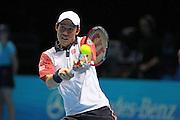Japan's Kei Nishikori during the Semi Final of Barclays ATP World Tour 2014 between Serbia's Novak Djokovic and Japan's Kei Nishikori, O2 Arena, London, United Kingdom on 15th November 2014 © Pro Sports Images