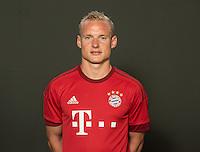 German Soccer Bundesliga 2015/16 - Photocall of FC Bayern Munich on 16 July 2015 in Munich, Germany: Sebastian Rode