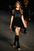 Mirte Maas walks the runway wearing Alexander Wang Spring 2010 collection during Mercedes-Benz Fashion Week in New York, NY on September 11, 2009