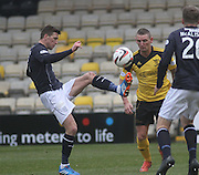 Dundee's Iain Davidson and Livingston's Martin Scott - Livingston v Dundee - SPFL Championship at Almondvale <br />  - &copy; David Young - www.davidyoungphoto.co.uk - email: davidyoungphoto@gmail.com
