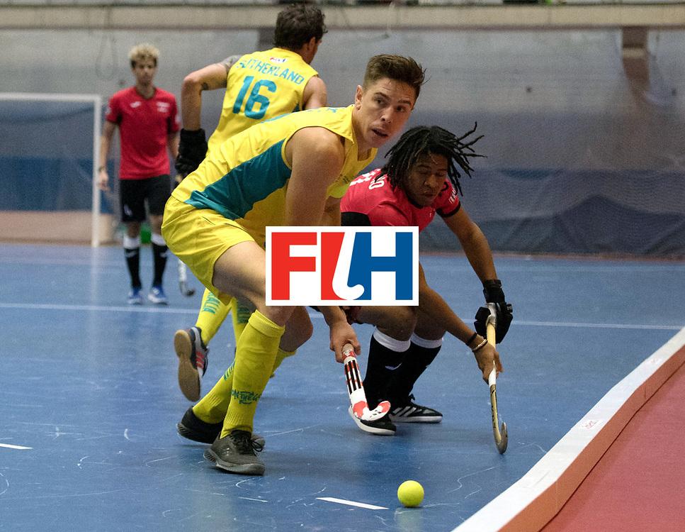 BERLIN - Indoor Hockey World Cup<br /> Trinidad &amp; Tobago - Australia<br /> foto: Heath Ogilvie and Tariq Marcano <br /> WORLDSPORTPICS COPYRIGHT FRANK UIJLENBROEK