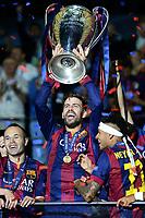 Gerard Pique'  Celebration <br /> Berlino 06-06-2015 OlympiaStadion  <br /> Juventus Barcelona - Juventus Barcellona <br /> Finale Final Champions League 2014/2015 <br /> Foto Matteo Gribaudi/Image Sport/Insidefoto