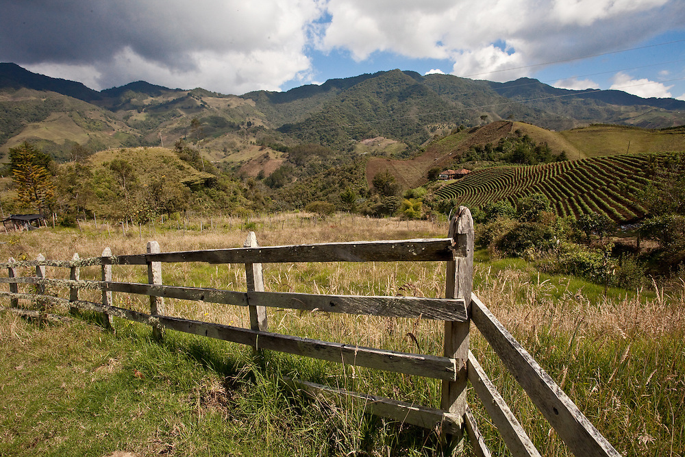 Landscape near Sonson in Antioquia, Colombia