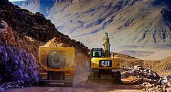 Road building in the Atlas Mountains, Morocco<br /> <br /> (c) Andrew Wilson | Edinburgh Elite media