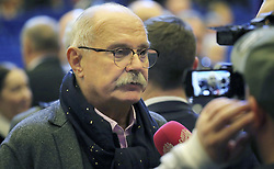 November 1, 2018 - Moscow, Russia - Film director, actor, screenwriter and producer Nikita Mikhalkov prior to the start of the plenary session of the World Russian People's Council at the Kremlin November 1, 2018 in Moscow, Russia. (Credit Image: © Kremlin Pool via ZUMA Wire)