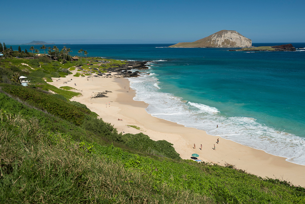 USA, Hawaii, Oahu, South Coast,  Makapuu Beach and Manana Island