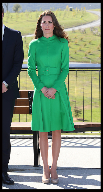 The  Duchess of Cambridge  at the National Arboretum in Canberra, Australia, Wednesday, 23rd April 2014. Picture by Stephen Lock / i-Images