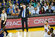 Charlotte Hornets head coach Steve Clifford reacts to his teams performance against the Golden State Warriors at Oracle Arena in Oakland, Calif., on February 1, 2017. (Stan Olszewski/Special to S.F. Examiner)