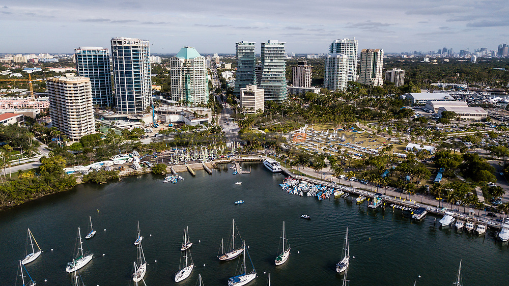 Regatta Park, Miami, USA is hosting more than 500 sailors from 50 nations for the second of four regattas in Sailing's 2018 World Cup Series. Held from 21-28 January 2018, racing will be held in all ten of the Olympic events. © Jesus Renedo /Sailing Energy/World Sailing