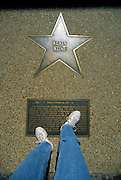 "Image of the Kevin Kline star along the ""Walk of Fame"" in St. Louis, Missouri, American Midwest, legs are model released"