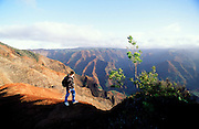 Hiking, Waimea Canyon, Kauai,Hawaii