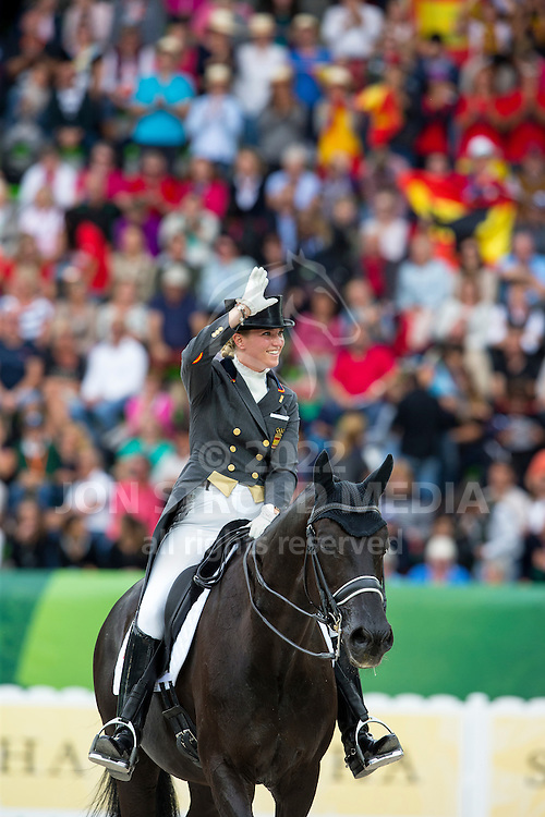 Morgan Barbancon Mestre, (ESP), Painted Black - Grand Prix Special Dressage - Alltech FEI World Equestrian Games&trade; 2014 - Normandy, France.<br /> &copy; Hippo Foto Team - Leanjo de Koster<br /> 25/06/14