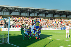 Denis Halilovic #16 of Luka Koper scores first goal for Koper during First Leg football match between FC Luka Koper and HNK Hajduk Split (CRO) in Second qualifying round of UEFA Europa League, on July 16, 2015 in Stadium Bonifika, Koper, Slovenia. Photo by Vid Ponikvar / Sportida