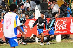 Lance da partida entre Barcelona e Porto Alegre 2014 válida pela copa Coca-Cola, no Estadio Candido de Menezes, neste sabado 27/08/2011, em Porto Alegre. FOTO: Marcelo Campos/Preview.com