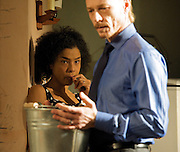 Haunted Child<br /> by Joe Penhall<br /> directed by Jeremy Herrin <br /> at The Royal Court Theatre, London, Great Britain <br /> Press photocall<br /> 6th December 2011 <br /> <br /> Sophie Okonedo (as Julie)<br /> <br /> Ben Daniels (as Douglas)<br /> <br /> Jack Boutler (as Thomas)<br /> <br /> Photograph by Elliott Franks