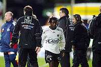 Fotball, 22. september 2003, Tippeligaen,  Sogndal-Viking 2-2,   Ousman Nyan, Sogndal, ble byttet ut