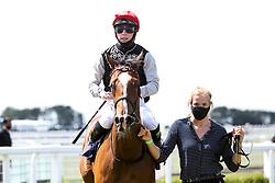 One Day ridden by Jason Watson trained by Roger Charlton wins the British Stallion Studs EBF Novice Median Auction Stakes - Mandatory by-line: Robbie Stephenson/JMP - 22/07/2020 - HORSE RACING - Bath Racecoure - Bath, England - Bath Races