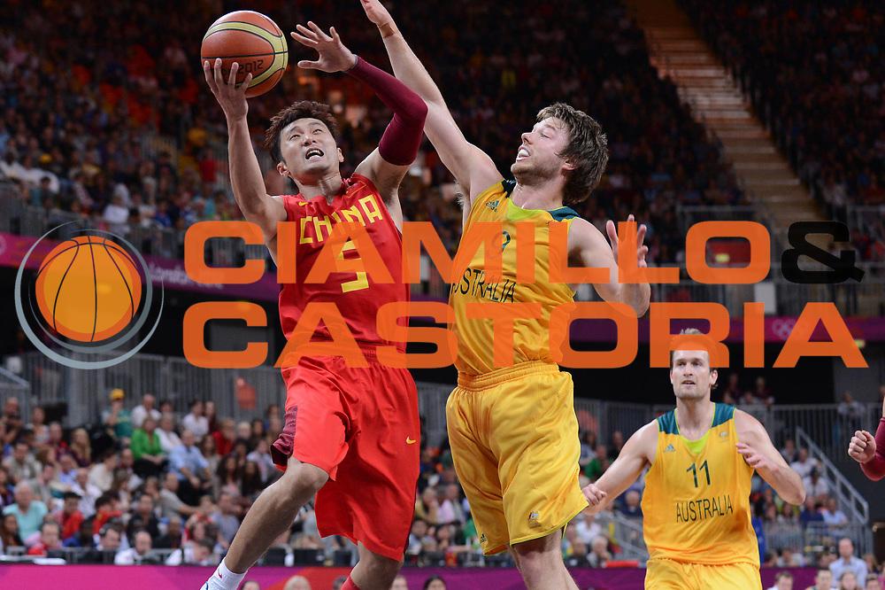 DESCRIZIONE : London Londra Olympic Games Olimpiadi 2012 Men Preliminary Round Brasile Australia Brazil Australia<br /> GIOCATORE :  Wei LIU<br /> CATEGORIA :<br /> SQUADRA : Australia<br /> EVENTO : Olympic Games Olimpiadi 2012<br /> GARA : Brasile Australia Brazil Australia<br /> DATA : 29/07/2012<br /> SPORT : Pallacanestro <br /> AUTORE : Agenzia Ciamillo-Castoria/M.Marchi<br /> Galleria : London Londra Olympic Games Olimpiadi 2012 <br /> Fotonotizia : London Londra Olympic Games Olimpiadi 2012 Men Preliminary Round Brasile Australia Brazil Australia<br /> Predefinita :