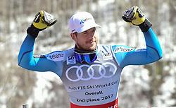 19.03.2017, Aspen, USA, FIS Weltcup Ski Alpin, Finale 2017, Gesamtweltcup, Herren, Siegerehrung, im Bild Kjetil Jansrud (NOR, zweiter Platz Gesamt Weltcup) // second place ovrall world cup Kjetil Jansrud of Norway during the winner award ceremony for the mens's Overall winner of 2017 FIS ski alpine world cup finals. Aspen, United Staates on 2017/03/19. EXPA Pictures © 2017, PhotoCredit: EXPA/ Erich Spiess