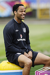 England Training Joleon Lescott  training ahead of their game against Sweden in the UEFA Euro 2012. Photo by Imago/i-Images.All Rights Reserved ©imago/i-Images .Contact Agency for fees before use...One use only. Re-Use Fees apply