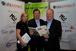 Maeve O'Mara from IAB, Brian Horgan from The Abbey Theatre, Mark James from MEC.