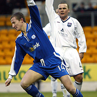 St Johnstone v Ross County..  11.01.03<br />Chris Hay celebrates his goal<br /><br />Pic by Graeme Hart<br />Copyright Perthshire Picture Agency<br />Tel: 01738 623350 / 07990 594431