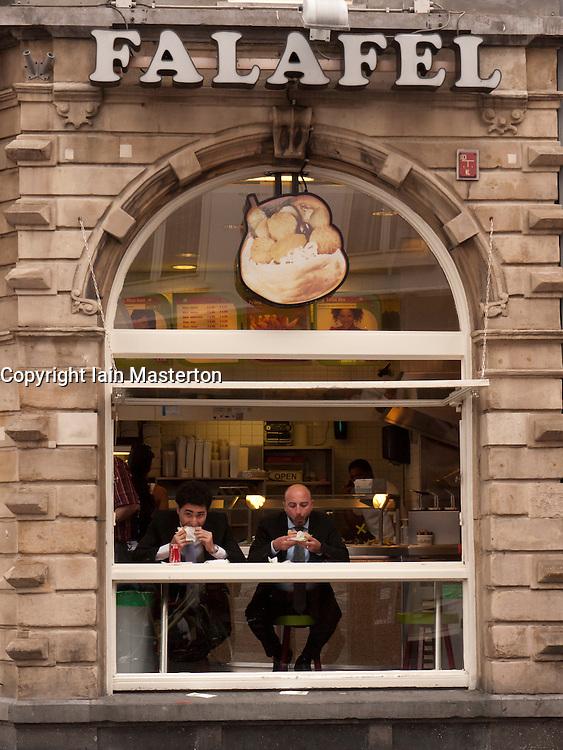 Turkish take away restaurant serving falafel in central Amsterdam The Netherlands