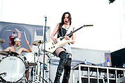 Halestorm performing at Carolina Rebellion at Metrolina Expo in Charlotte, NC on May 7, 2011