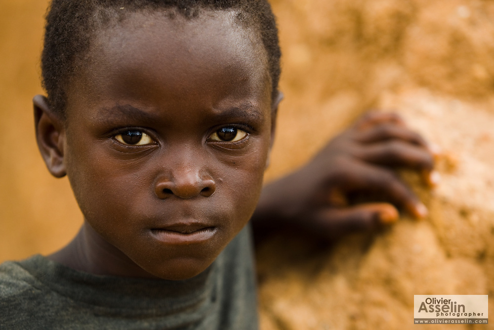 Young boy in Tano Akakro, Cote d'Ivoire on Saturday June 20, 2009.