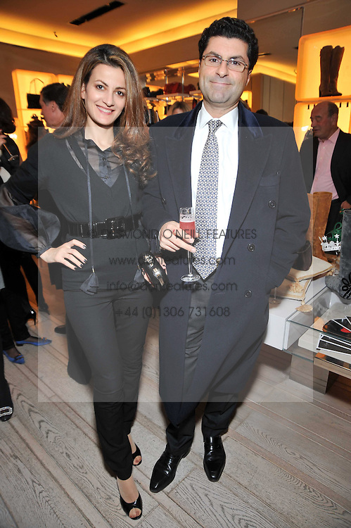 MARWAN & AZIA CHATILA at a party to celebrate the arrival of the 'A Princess to be a Queen' collection at the Roger Vivier boutique on Sloane Street, London on 20th October 2009.